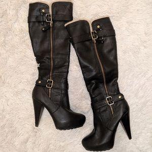 Guess heeled knee-high boots